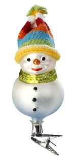New Hat Snowman<br>Inge-glas Ornament