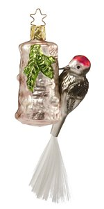 Red Headed Woodpecker<br> 2013 Inge-glas ornament
