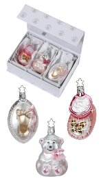 It's a Girl! - Gift Box<br> Set of 3 Ornaments