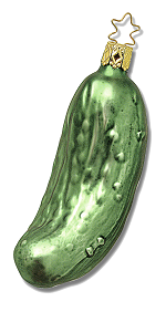 Legendary Pickle Ornament<br>Inge-glas of Germany