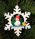 Snowman in Snowflake<br>Ulbricht Ornament