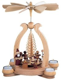 Natural Santa Tea Light Pyramid