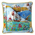 Pirates & Dolfin<br>13 Inch Peek-A-Boo Pillow
