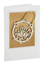 Christmas Bells<br> Wooden Ornament and Card