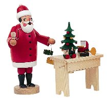 Santa Smoker with his Work Bench