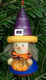 Witch & Pumpkin - Ulbricht<br> Roly-Poly Ornament