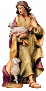 Shepherd with 2 Sheep<br>Dolfi Raffaello Nativity