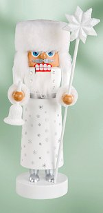 Frosty Santa - White<br>Small KWO Nutcracker