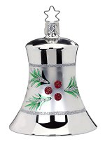 Silver Everygreen Bell<br>Inge-glas Ornament