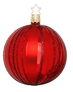 Fancy Stripes Red<br>Shiny Kugel Ornaments