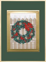 Cardinal Wreath<br>Brett Card Collection - 2016