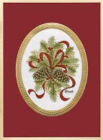 Pinecones & Holly<br>Brett Card Collection - 2016