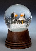 Frolicking Penguins<br> Austrian Snow Globe