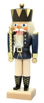 King - Small Blue<br> 2014 Ulbricht Nutcracker