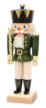 King - Small Green<br> 2014 Ulbricht Nutcracker