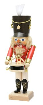Drummer - Small Red<br> 2014 Ulbricht Nutcracker