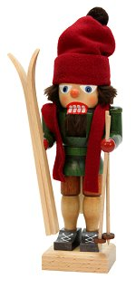 Skier with Red Hat<br>Small Ulbricht Nutcracker