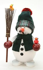 Classic Snowman in Green Plaid<br> Ulbricht Smoker