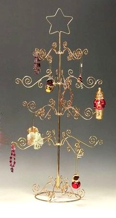 4 tiered tree wire ornament stand - Metal Christmas Tree Ornament Display