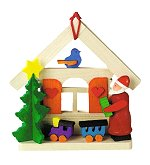Santa with House & Train<br>Graupner Ornament