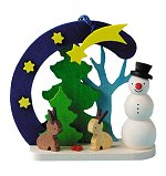 Snowman with Bunnies<br>Graupner Ornament