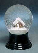 Citizen Kane Mountain Cottage<br> Perzy Snow Globe