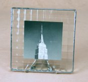 5x5 Cross Reed Photoframe<br>Bedford Downing Glass
