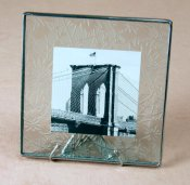 5x5 etched photo frame bedford downing glass