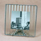 5x5 Reed Photo Frame<br> Bedford Downing Glass