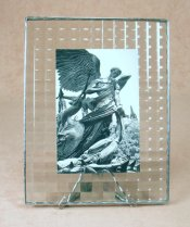 7x9 Cross Reed Photoframe<br>Bedford Downing Glass
