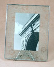 7x9 etched photo framebedford downing glass