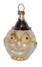 Clown Head - Glasses<br>Vintage Nostalgia Ornament
