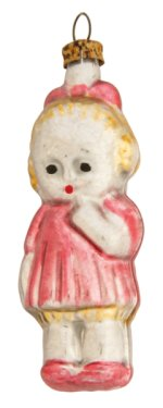 Small Girl in Red<br>Vintage Nostalgia Ornament