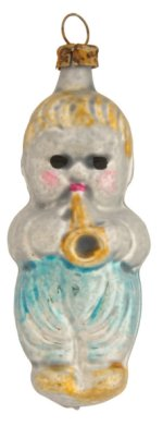 Boy with Trumpet<br>Vintage Nostalgia Ornament