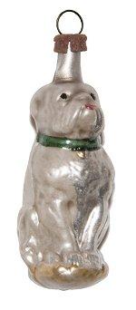Waiting Dog Sitting<br>Vintage Nostalgia Ornament