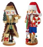Both Santa Nutcrackers<br>American Santa Series