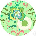 Paradise Garden Circle Mint by Amy Butler