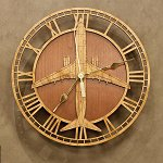 Boeing 737-800<br>10-14 Inch Wooden Wall Clock