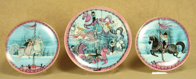 Carousel Triptych<br>P Buckley Moss Plates