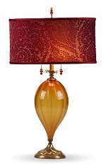 Claire - Carmel Glass<br>Kinzig Design Table Lamp
