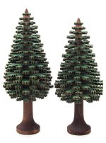 Pair of Conifer Trees<br>Laser Cut - 13 & 14cm