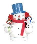 Snowman & Children<br>Miniature Smoker