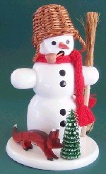 Snowman with Basket Hat Smoker
