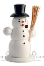 Snowman with Tall Black Hat<br>Franz Karl Smoker