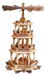 Franz Karl 3 Tiered Natural<br>Candle Pyramid