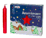 Angel Chime Candles<br>Baumkerzen Candles - Red