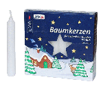 Angel Chime Candles<br>Baumkerzen Candles - White