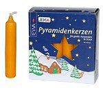 Pyramid Candles - Large<br> Natural - Advent Gold