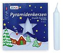 German Pyramid Candles<br>Large White - 17mm