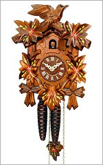 Traditional 5 Leaf Cuckoo Clock - Small
